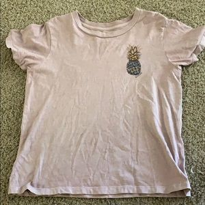 Oneill purple mauve pineapple size small SS top